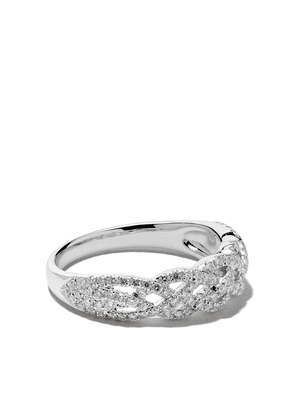 Wouters & Hendrix Gold 18kt white gold Braided Diamond ring