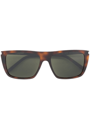 Saint Laurent Eyewear square sunglasses - Brown