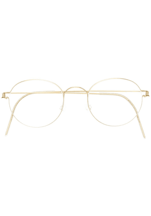 Lindberg Morten round glasses - Metallic