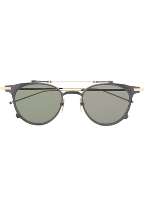 Thom Browne Eyewear round-frame flip-up sunglasses - Black