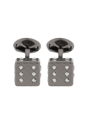Tateossian Dice crystal-embellished cufflinks - Black
