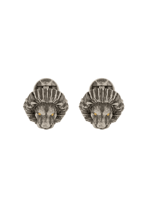 Tateossian Lion crystal-embellished cufflinks - SILVER