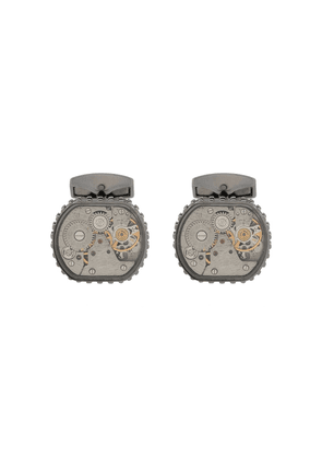 Tateossian Skeleton Gear cufflinks - SILVER