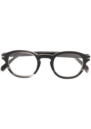 DAVID BECKHAM EYEWEAR marbled round-frame glasses - Grey