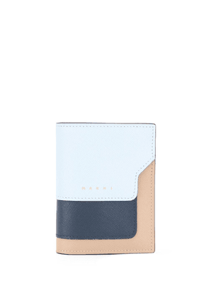 Marni colour-block mini wallet - Blue