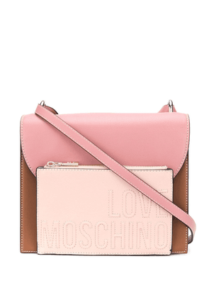 Love Moschino front-pouch shoulder bag - Brown