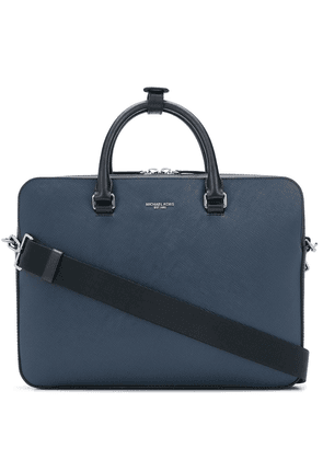 Michael Kors Collection top zip briefcase - Blue