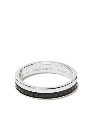 Boucheron 18kt white gold Quatre Black Edition black PVD wedding band