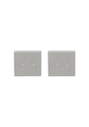 LANVIN geometric-pattern cufflinks - GOLD