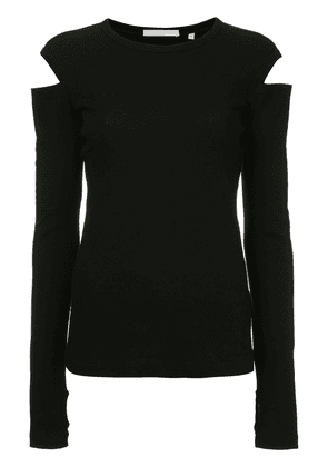Helmut Lang slash long sleeved T-shirt - Black