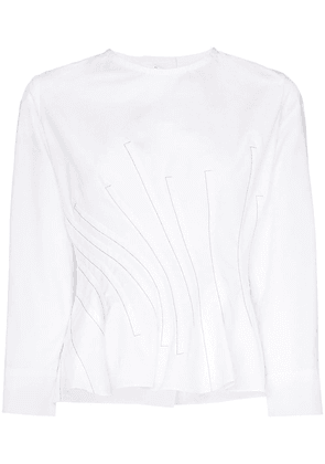 Marni twisted waist button back top - White