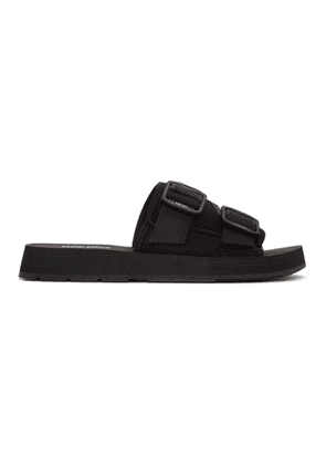 Kenzo Black Papaya Mule Sandals
