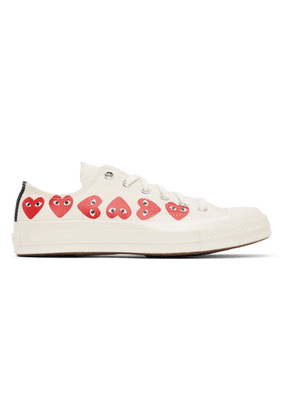 Comme des Garcons Play Off-White Converse Edition Multiple Hearts Chuck 70 Low Sneakers