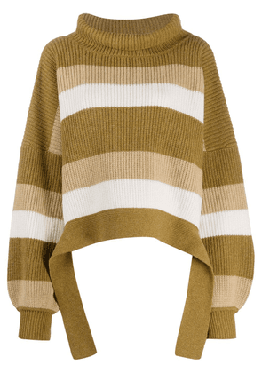 JW Anderson oversized striped jumper - Brown