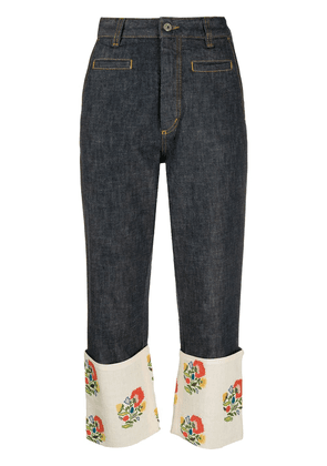 Loewe Fisherman floral-embroidered jeans - Blue