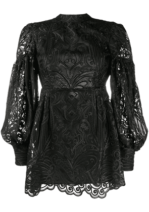 Wandering embroidered cocktail dress - Black