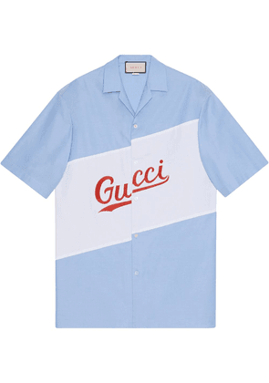 Gucci Gucci Stripe bowling shirt - Blue
