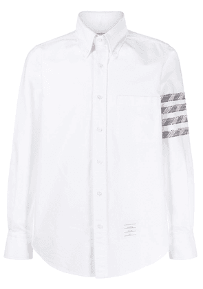 Thom Browne oxford 4-Bar buttoned shirt - White