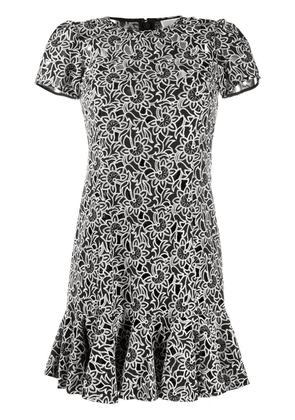 Michael Michael Kors embroidered floral dress - Black