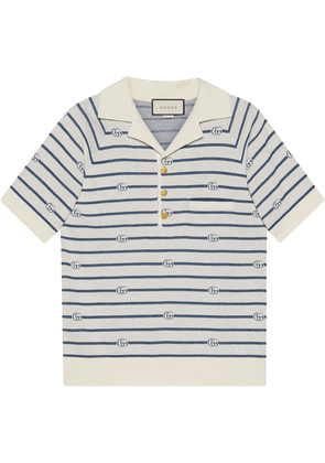 Gucci Double G striped polo shirt - White