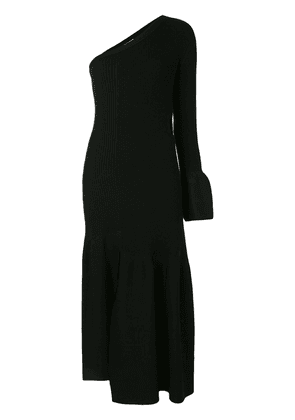 3.1 Phillip Lim ONE SLEEVED RIBBED CUTOUT DRESS - Black