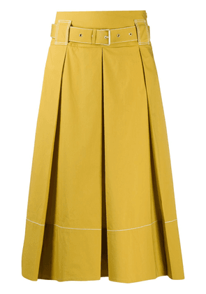 Piazza Sempione belted waist skirt - Yellow