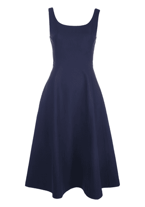 Adam Lippes scoop neck flared dress - Blue