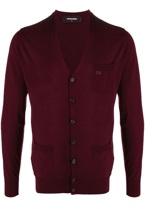 Dsquared2 logo embroidered knitted cardigan