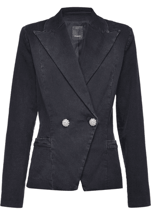 Pinko embellished button double-breasted blazer - Black