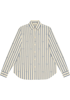 Gucci Double G stripe shirt - White