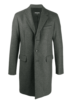 Dsquared2 single breasted button-front coat - Grey