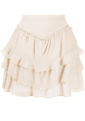IRO ruffle mini skirt - NEUTRALS