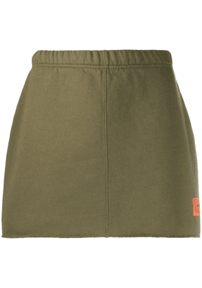 Heron Preston jersey mini skirt - Green