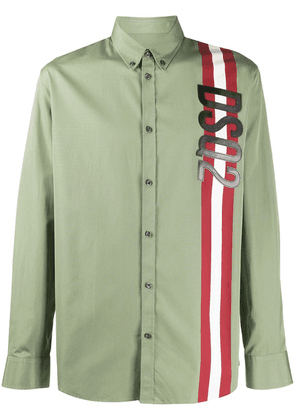 Dsquared2 logo embroidered shirt - Green