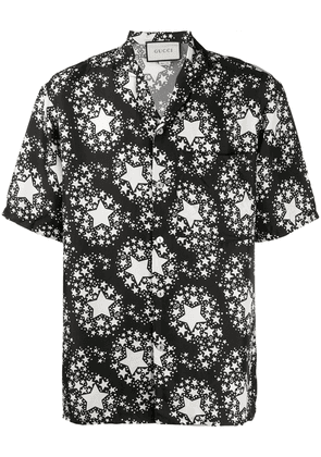 Gucci star print silk shirt - Black