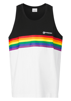 Burberry rainbow stripe print tank top - Black