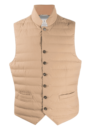 Brunello Cucinelli padded quilted gilet - Brown