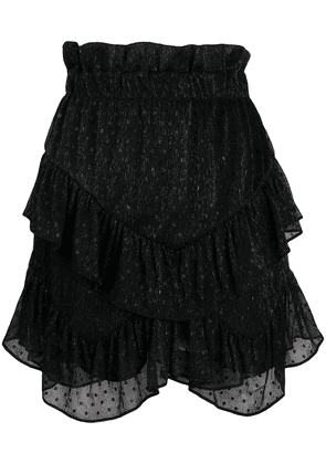 IRO ruffle embroidered skirt - Black