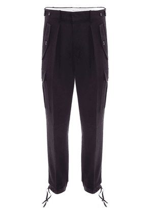 JW Anderson DOUBLE HEM CARGO TROUSERS - Black