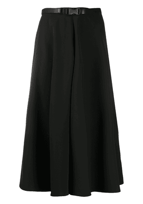 Prada buckle belt midi skirt - Black
