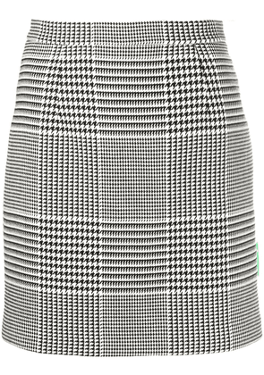 Off-White prince of wales short skirt - Black