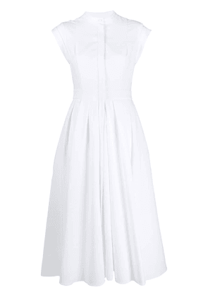Alexander McQueen cap sleeve shirt dress - White