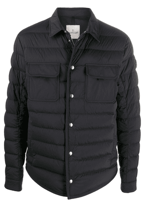 Moncler quilted buttoned jacket - Blue