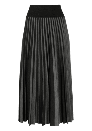 Agnona pleated knit midi skirt - Grey