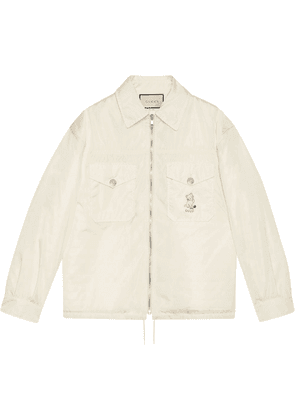 Gucci cat-patch shirt-style jacket - White