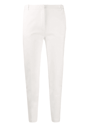 Pinko high rise cropped trousers - White