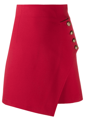 Pinko asymmetric fitted skirt - Red