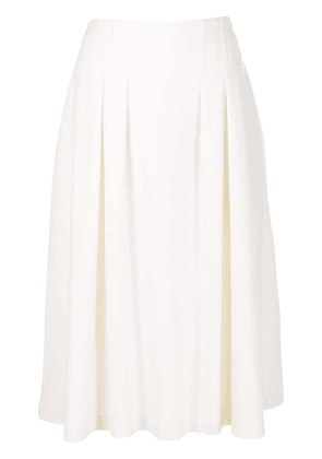 Agnona pleated midi skirt - NEUTRALS