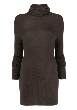 Rick Owens knitted long-length top - Brown