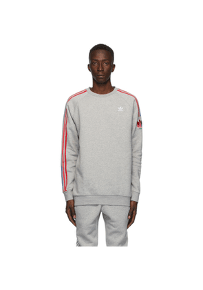 adidas Originals Grey adiColor 3D Trefoil Crewneck Sweater